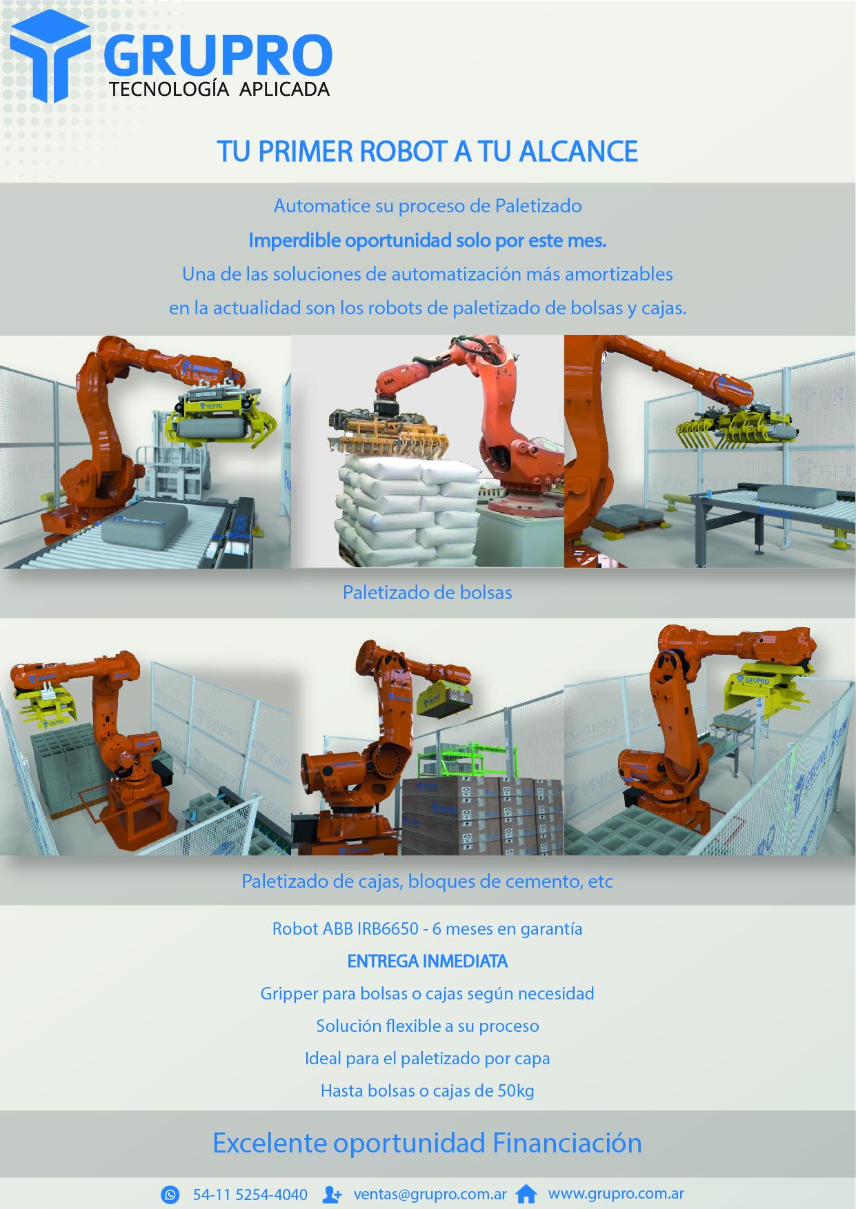 Adquiere tu primer robot